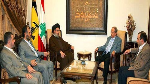 Sayed Nasrallah reçoit le général Aoun: Faire face au terrorisme takfiri.