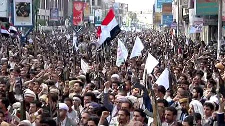 Yémen: échec de consultations à l'ONU, manif monstre à Sanaa contre l'offensive arabo-US.