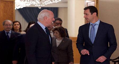 Syrie : Assad appuie la poursuite des concertations de l'Onu sur la crise.