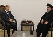 Le général Michel Aoun chez sayed Nasrallah